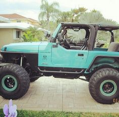 This jeep! I'm so in love with the color, it's so different