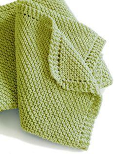 Free Knitting Pattern: Farnsworth Blanket from Lion Brand.  Skill Level: Easy