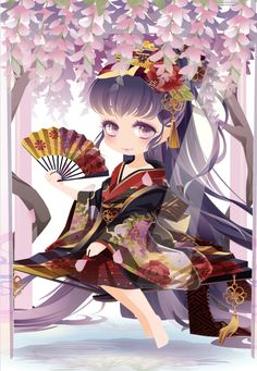 花に霞の神楽舞|@games -アットゲームズ- Anime Chibi, Kawaii Anime, Anime Art, Character Inspiration, Character Design, Cocoppa Play, Star Girl, Kawaii Wallpaper, Japanese Outfits
