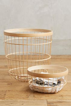Bamboo Open-Weave Basket - anthropologie.com                                                                                                                                                                                 More