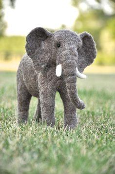 Needle felted Elephant by Teresa Perleberg, via Behance