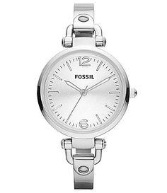 Fossil Georgia Silver Ladies Watch #Dillards