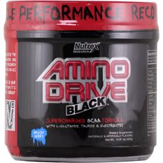 Nutrex Amino Drive Black Brusin' Berry 30 svg | Regular Price: $44.95, Sale Price: $33.99 | #onSale  | Optimize Muscle Performance Recovery and Growth Supercharged BCAA Formula with L Glutamine Taurine and ElectrolytesAmino Drive Black is your perfect tool to quickly load up on the essential branched chain amino acids L Leucine L Isoleucine L Valine along with L Glutamine Creatine and Taurine This research proven muscle building nutrient mix helps to swell muscle bellies and Build Muscle, Muscle Building, Amino Acid Supplements, Workout, Amino Acids, Recovery, Berries, Chain