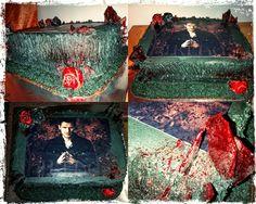 Our original vampire theme cake  #mickeyandnicky