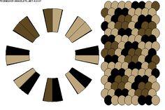 leopard print kumihimo pattern