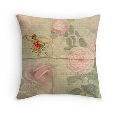 Gift for Dancer Floral Cushion Dancer by PeggyCollinsPhotoArt