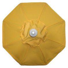 Galtech 9 ft. Commercial Deluxe Sunbrella Aluminum Market Umbrella Sunflower Yellow - 732AB77