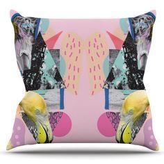 East Urban Home Flamingo Tropical by Vasare Nar Outdoor Throw Pillow
