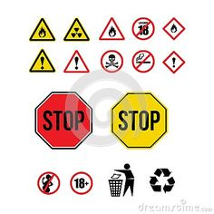 Sign warning icon and logo
