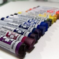 Daniel Smith Watercolor Sticks; the best and the most expensive.