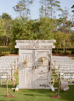 What a Wonderful Idea for an Outdoor Wedding.