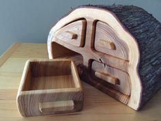 Large Rustic Cedar Bandsaw Box by DGWorksCo on Etsy
