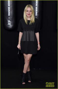 Dakota Fanning & Eddie Redmayne Watch Karlie Kloss Hit The Runway at Alexander Wang X H&M Launch!