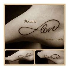 infinity tattoo, I think I could go for this one.