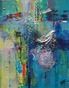 A Mermaid's Song: Mixed media and collage
