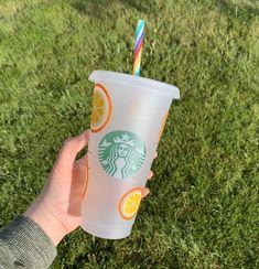 Personalized Starbucks Cup, Custom Starbucks Cup, Starbucks Tumbler, Starbucks Drinks, Personalized Cups, Starbucks Coffee, Summer Fruit, Summer Drinks, Starbucks Cup Design