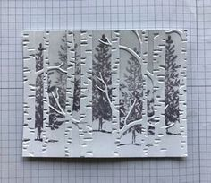 How-to put puctures behind embossing - Ramblin' Stamper: Embossing Folder Technique - Quick & Easy Christmas Card! Card Making Tips, Card Making Tutorials, Card Making Techniques, Making Ideas, Homemade Christmas Cards, Simple Christmas, Handmade Christmas, Christmas Tree, Woodland Christmas