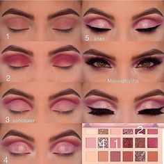 Gorgeous Makeup: Tips and Tricks With Eye Makeup and Eyeshadow – Makeup Design Ideas Huda Beauty Eyeshadow, Nude Eyeshadow, Nude Makeup, Skin Makeup, Eyeshadow Palette, Eyeshadows, Mascara Hacks, Make Up Designs, Makeup Pallets