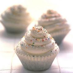 Swirly Cupcakes Recipe Desserts with chocolate cake, ice cream, heavy cream, confectioners sugar, sprinkles