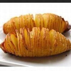 Hasselback aardappelen uit airfryer