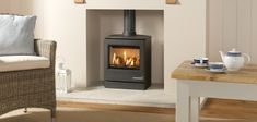 Conventional Flue Gas Stove are proudly stocked by UK Stoves. We stock a wide range of Conventional Flue Gas Stoves available through-out the UK to the trade and the public. Gas Stove Fireplace, Fireplace Showroom, Fireplace Ideas, Flame Picture, Living Spaces, Living Room, Log Burner, Gas Fires, Home Renovation