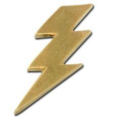 Lightning Bolt Lapel Pin StockPins. $3.95