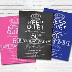 surprise 50th birthday party invitation 50th birthday 60th birthday 70th birthday invite surprise