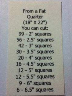 From a Fat Quarter-Great to pin just for reference..