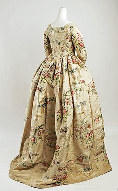 Silk Dress  --  Circa 1780  --  British  --  The Metropolitan Museum of Art Costume Institute