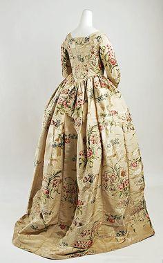 Silk Dress  --  Circa 1780  --  British  --  The Metropolitan Museum of Art Costume Institute