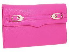 Rebecca Minkoff Buckled Clutch Bright Pink