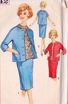 1960s Maternity Skirt Blouse and Jacket