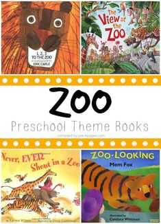 Preschool Books About the Zoo. A great list of books to support the development of language and literacy!