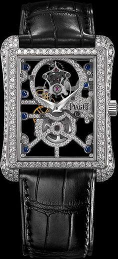 White gold Diamond Skeleton tourbillon Watch - Piaget Luxury Watch G0A30037