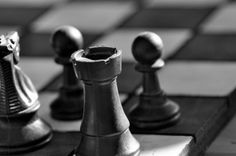 black and white chess photography