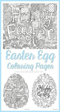 Easter Egg Coloring Pages For Adults Or Kids