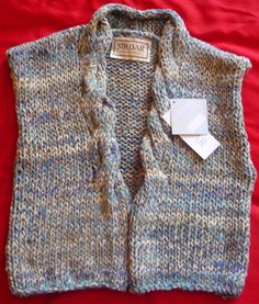 Ladies Hand-knitted Chunky Waistcoat