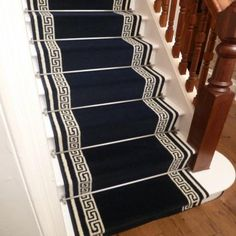 Key - Navy Blue Stair Carpet Runner