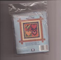 Country Collectibles Traditions Heart Quilt Cross Stitch Kit T8616  #Traditions #Quilt