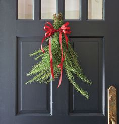 Door with Rosemary Sprigs - love the smell of rosemary