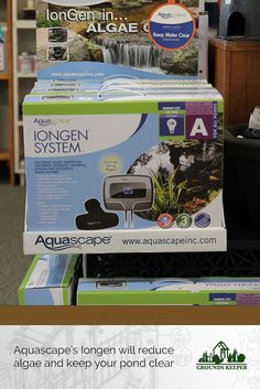 Aquascape's Iongen system keeps algae at bay and helps maintain the balance of your pond. In stock in our Matawan NJ showroom.