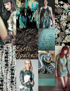 Style Council Blog - Exotic Opulence - Fall 15/16 Color Story