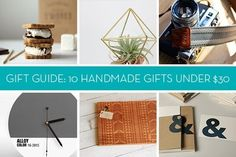 Gift Guide: 10 Handmade Gifts Under $30 for Anyone » Curbly | DIY Design Community