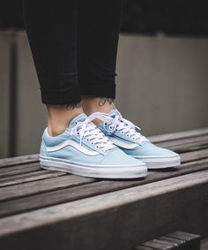 Vans Old Skool  Crystal Blue True White 4f3596ec3
