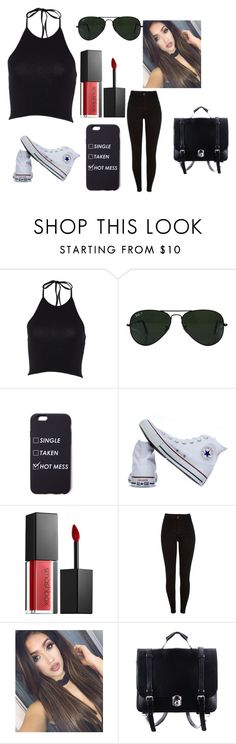 """Random outfit"" by nialls-wife1 on Polyvore featuring Ray-Ban, Converse and Smashbox"