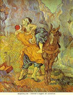 Vincent van Gogh. The Good Samaritan (After Delacroix). Auvers-sur-Oise. Olga's Gallery.