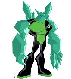 ENGLISH: Name: Ghost Arms Fusion between: Four Arms and Ghostfreak Species:  ½ Tetramand  ½ Ectonurite (Petramand) Planet: Khoros/Anur Phateos Abil...