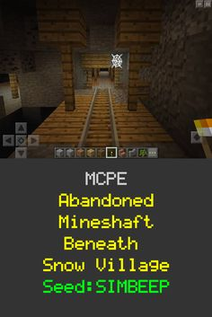 MCPE Abandoned Mineshaft Beneath Spawn Village! Seed:SIMBEEP