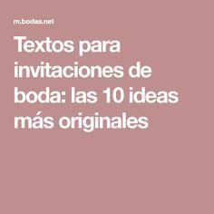 Textos para invitaciones de boda: las 10 ideas más originales