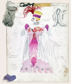 Horse Eats Hat costume design, 1936. Graphite, watercolor, and textile samples. Federal Theatre Project Collection, Music Division, Library of Congress (009.00.00)  Digital ID # ftp0009